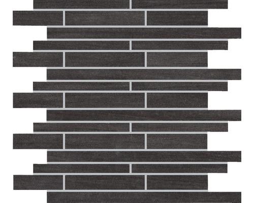 Mosaïque en grès-cérame fin Brickstones anthracite, 30x30 cm