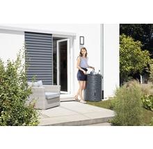Cuve de collecte d''eau de pluie ARONDO 250 L gris graphite-thumb-4