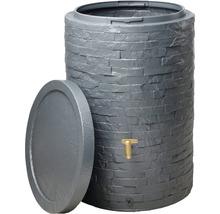 Cuve de collecte d''eau de pluie ARONDO 250 L gris graphite-thumb-1