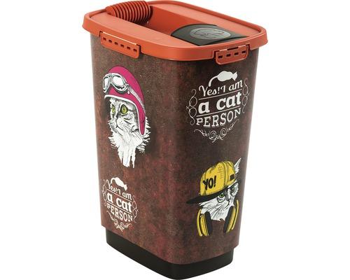 Boîte à nourriture pour animaux Cody 25 l 33x25x46,3cm marron