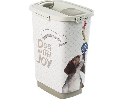 Boîte à nourriture pour animaux Cody chien 25 l 33x25x46,3 cm cappuccino