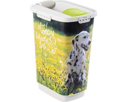 Boîte à nourriture pour animaux Cody chien 25 l 33x25x46,3 cm vert