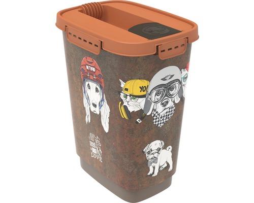 Boîte à nourriture pour animaux Cody 10 l 24,3x17,9x32,2cm marron