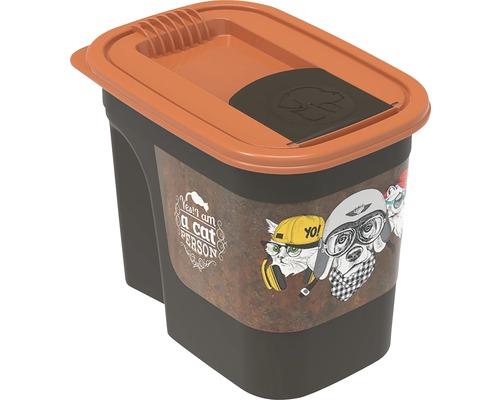 Boîte à nourriture pour animaux boîte pour aliments en vrac Flo 2,2 l 19,5x13,6x16,2cm marron