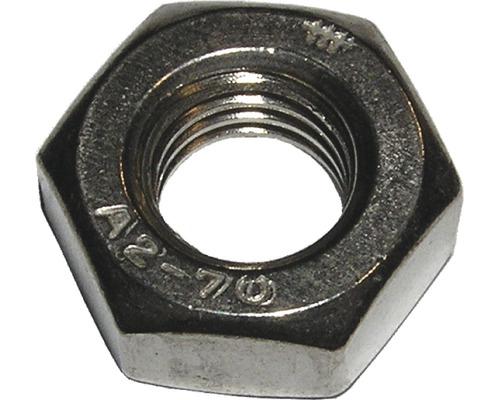 Écrou à six pans DIN 934, M3 acier inoxydable A2 100 unités