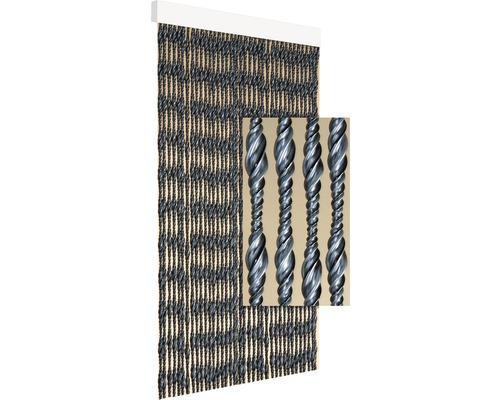 Rideau de porte Ember argenté-noir 90x210 cm