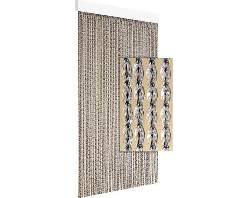 Rideau de porte Nola noir 90x210 cm