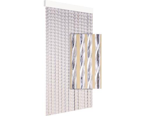 Rideau de porte Tinca gris 60x190 cm
