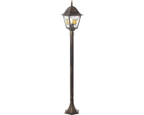 Lampadaire extérieur IP44 1ampoule hxlxL 1120x195x195mm Janel noir or