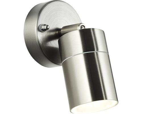 Applique extérieure LED Jandy pivotante 10W GU10 acier inoxydable