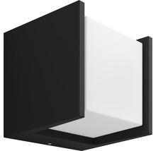 Applique murale LED Philips hue Fuzo White Ambiance 15W 1150 lm 2700 K blanc chaud noir 130x140 mm - compatible avec SMART HOME by HORNBACH-thumb-1