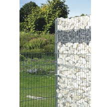 Kit de base pour clôture gabions GAH Alberts Step2 à sceller dans le béton 200x100 cm galvanisé à chaud-thumb-1