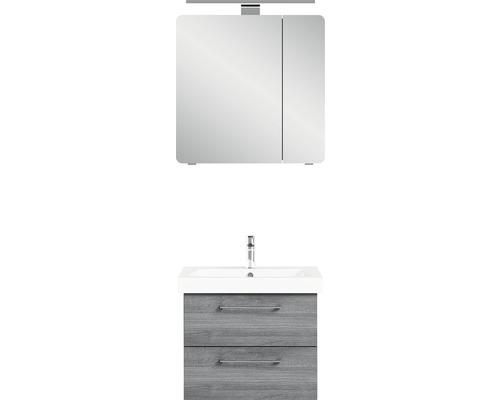 Ensemble de meubles de salle de bains Pelipal Sunline 105-65 graphite à structure transversale