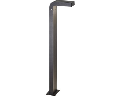 Lampadaire extérieur LED IP54 9 W 680 lm 3000 K blanc chaud hxpxl 800x200x90 mm Burty noir 1 ampoule