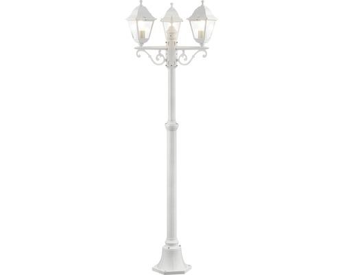 Lampadaire extérieur IP44 3 ampoules hxØ 2000x580 mm Nissi blanc candélabre