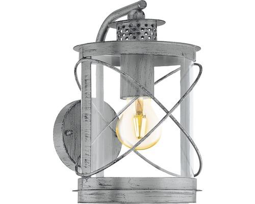 Applique extérieure 1 ampoule H 280mm Hilburn argent/antique