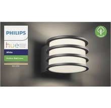 Applique murale LED Philips hue Lucca White Ambiance Outdoor 9,5 W 806 lm 2 700 K blanc chaud anthracite H 215 mm-thumb-4