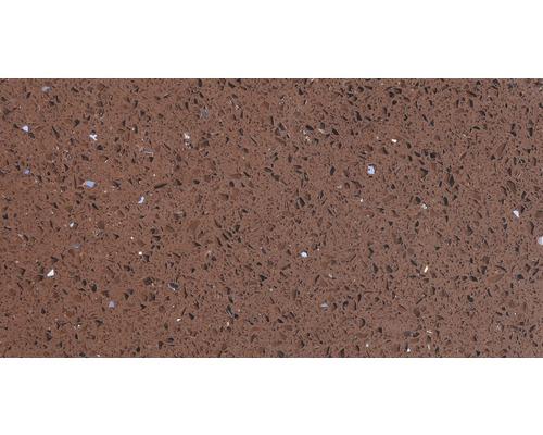 Carrelage de sol, composite de quartz, marron, 30x60 cm