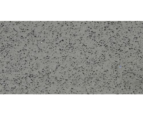 Carrelage de sol, composite de quartz, gris, 30x60 cm