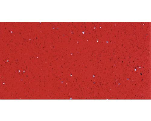 Carrelage de sol, composite de quartz, rouge, 30x60 cm