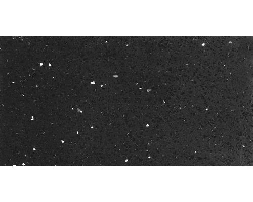 Carrelage de sol, composite de quartz, noir, 30x60 cm