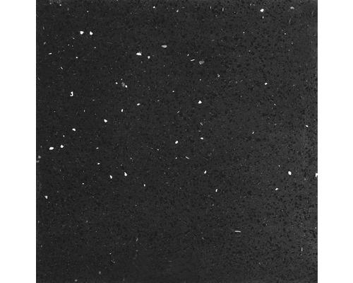 Quarzstein Wand- und Bodenfliese Schwarz 60 x 60 cm