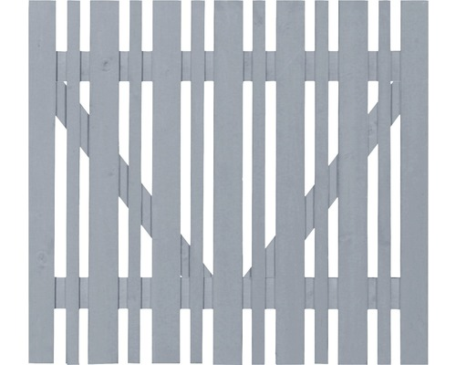 Portail à un vantail clôture de jardinet ECO 100x80cm gris