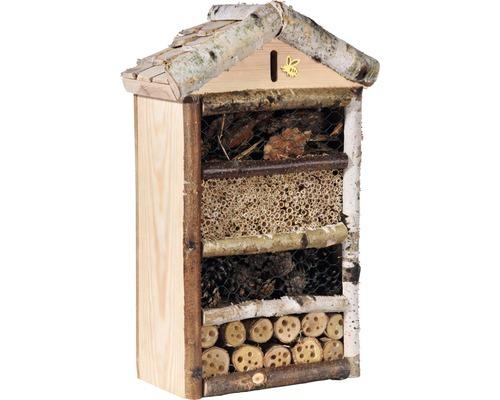 Hôtel à insectes Rustikal avec bardeaux de brindilles29x14x43cm