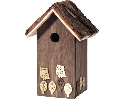 Nichoir avec application pour oiseaux nocturnes20x19x35cm