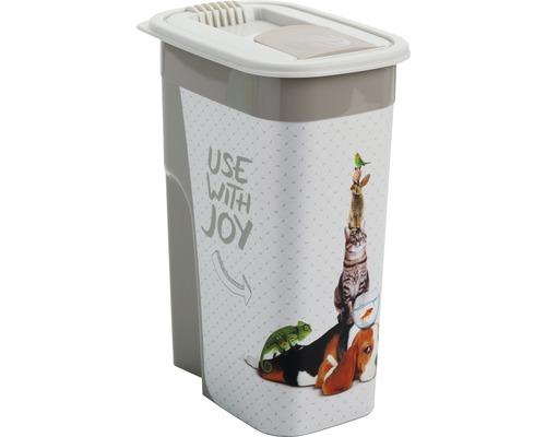 Boîte à nourriture pour animaux boîte pour aliments en vrac Flo 4,1 l 19,5x13,6x27cm cappuccino