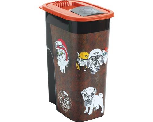 Boîte à nourriture pour animaux boîte pour aliments en vrac Flo 4,1 l 19,5x13,6x27cm marron