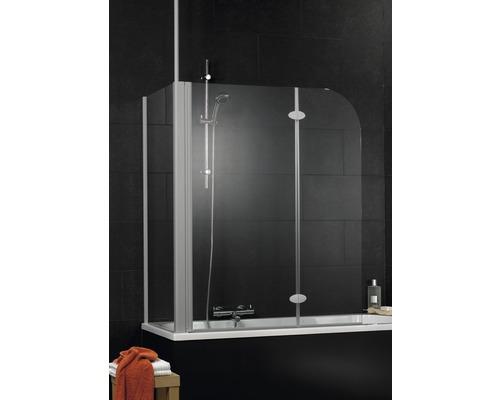 Pare-baignoire Schulte ExpressPlus EP3380 01 50 140 2 parties avec paroi latérale transparent clair largeur 1146mm