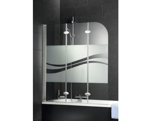 Pare-baignoire Schulte ExpressPlus EP3354 01 97 140 3 parties décor Liane largeur 1250mm