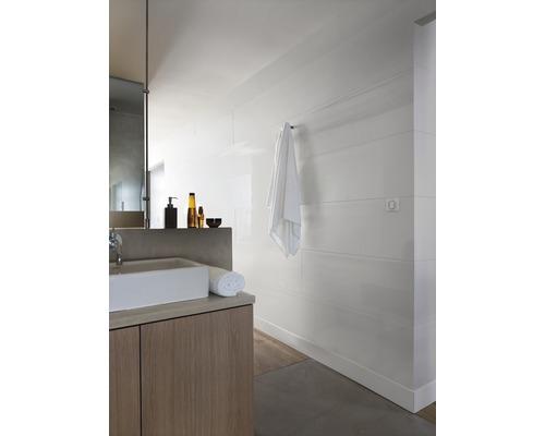 Lambris en PVC 8x375x2600 mm blanc lisse