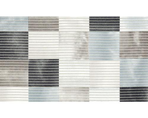 Tapis antidérapant en mousse souple Karo gris 80x50cm