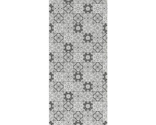 Tapis antidérapant en mousse souple Tile Antique noir 65x180cm