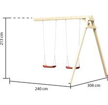 Extension de balançoire AKUBI balançoire double pour Lotti, Danny, Frieda, Luis-thumb-2