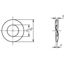 Rondelles élastiques DIN 137/B, 5 mm galvanisées, 100 unités-thumb-1
