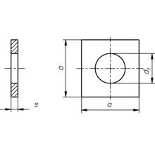 Disque carré DIN 436 9 mm galvanisé à chaud 50 unités-thumb-1