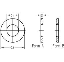 """Rondelle pour filetage 1/2"""" (comme DIN 125) galvanisée, 25 pièces-thumb-1"""