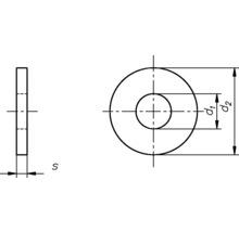 Rondelle DIN 9021, 3,2 mm galvanisée, 100 unités-thumb-1