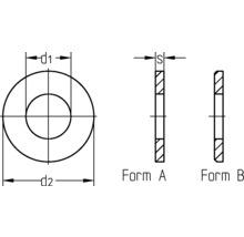 Rondelles DIN 125, 3,2 mm acier inoxydable A2, 100 unités-thumb-1