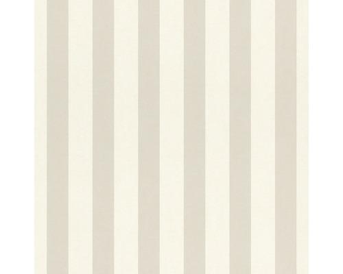 Papier peint 246056 Bambino XVIII rayures gris blanc