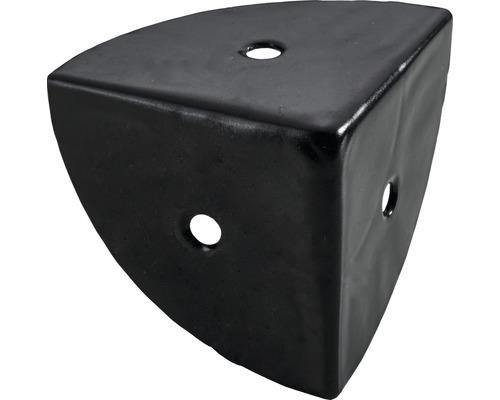 Coin de caisse 28x28x28 acier noir