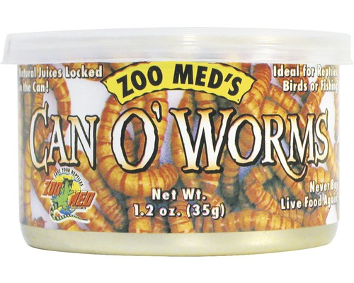 Vers de farine en conserve ZOO MED Can O'' Worms (300 worms/can) 35g