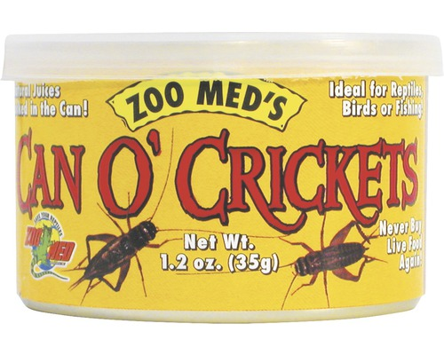 Grillons en conserve ZOO MED Can O'' Crickets (60 crickets/can) 34 g