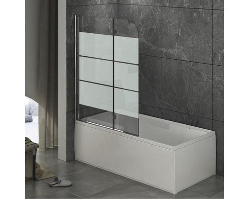 Paroi de baignoire pliante en 2 parties 1120x1420 mm