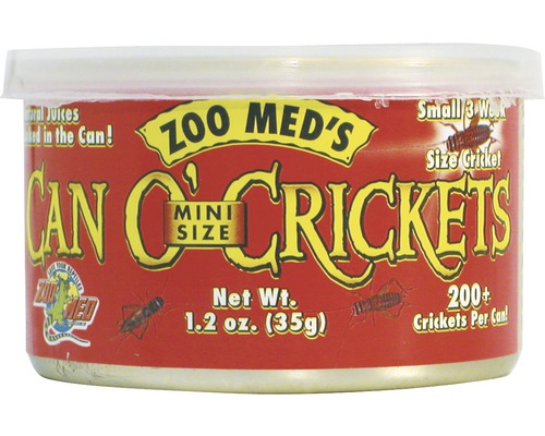 Grillons en conserve ZOO MED Can O'' Crickets Mini Size (200/can) 35g