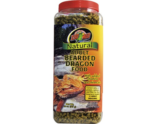 Nourriture en pellets pour dragons barbus ZOO MED Natural Bearded Dragon Food - Adult 567 g