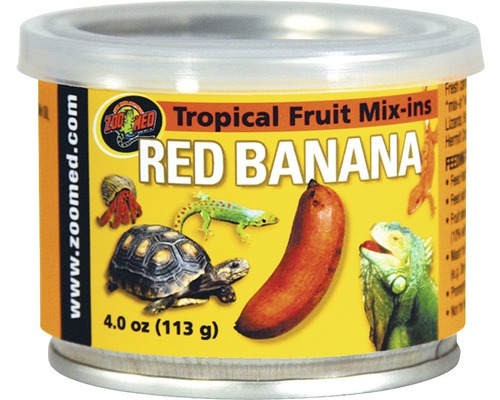 Nourriture pour reptiles ZOO MED Tropical Fruit Mix-ins Red Banana 95 g